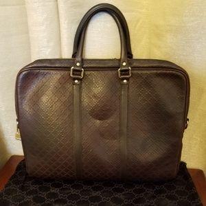 Gucci Bags - Gucci Hilary Diamante Briefcase Leather Laptop Bag